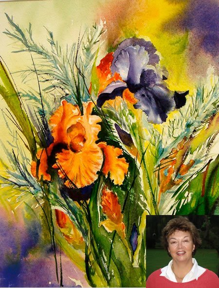 Liz Pickett and her painting Chelsea Colour