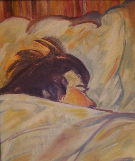 Le Lit 0 after Lautrec